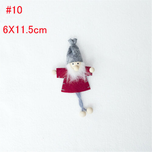 Mini Wooden Christmas Cloth Doll Pendant Christmas Tree Cute Doll Home Ornament~
