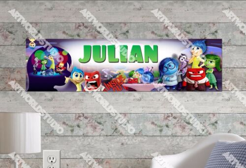 Personalized//Customized Inside Out Movie Name Poster Wall Art Decoration Banner