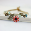 miniature 18 - Bracelet Flower Daisy Beads Girls Ceramic Charm Jewellery Silver Ankle Girls