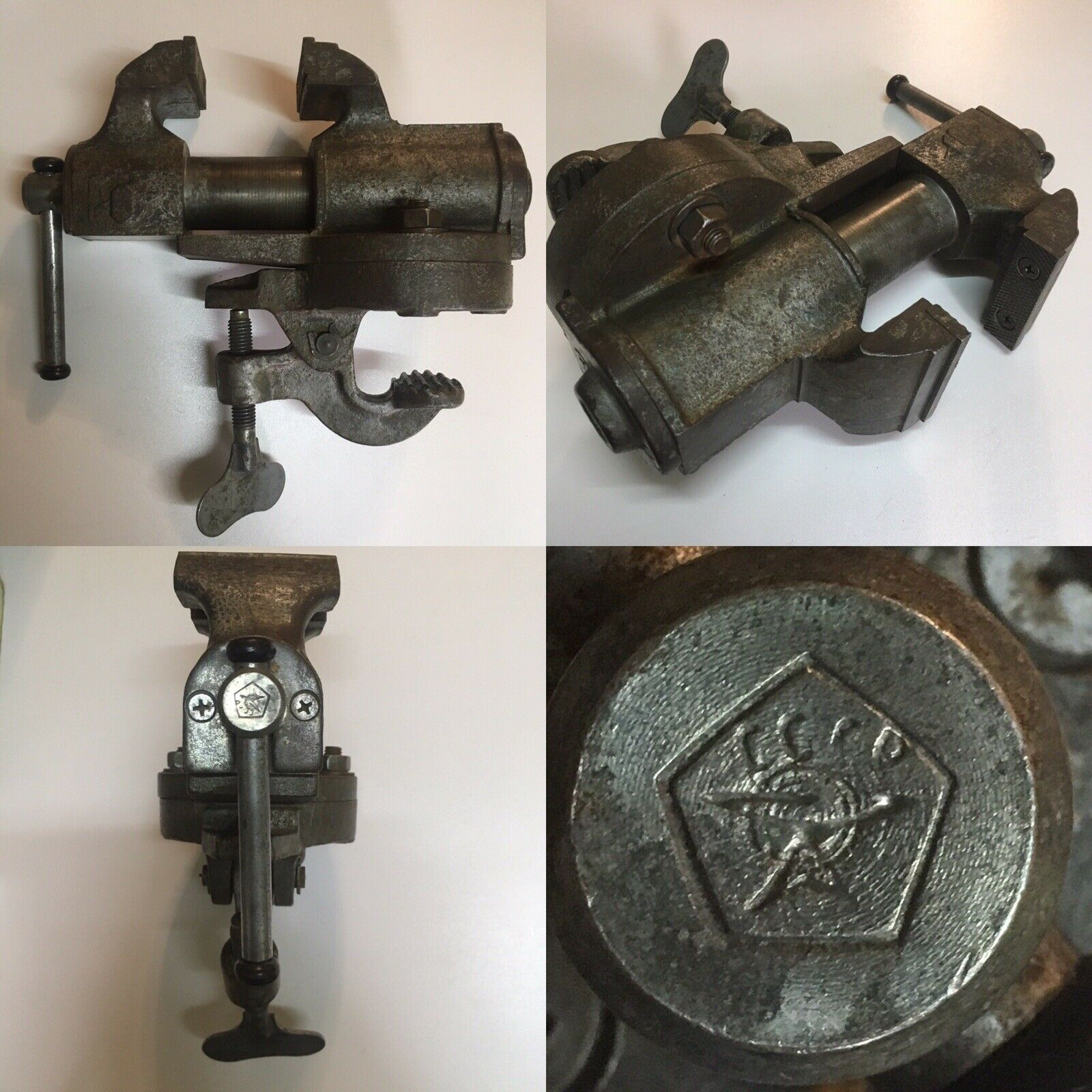 Rare Vintage Soviet steel Vise 1975 (Made In USSR)