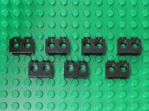 7 x LEGO Black Technic Brick 1x2 with Holes Ref 32000 Set 75241 75087 7675 6208