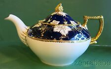 "Royal Crown Derby Vine Cobalt Large Teapot 6"" tall"