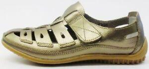 OFERTA DOWN TO EARTH Mujer Dorado Cuero breatable LIFESTYLE Zapatos F3094