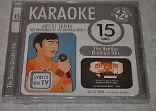 ALL STAR KARAOKE THE BEATLES GREATEST HITS CD + G DISK NEW 15 SONGS