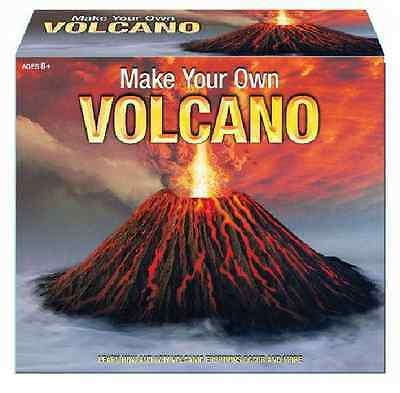 Make Your Own Erupting Volcano Set Educational Playset Science Model Kit Toy
