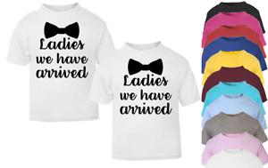 Ladies We have Arrived Twin Set Kids T-shirt Children Top Toddler Top Children/'s