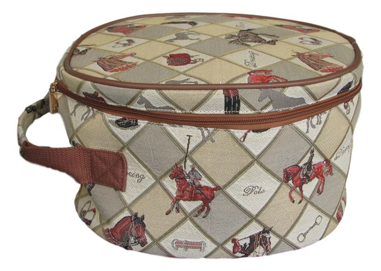 Tapestry Equestrian Sport Horse Riding Helmet Storage Bag