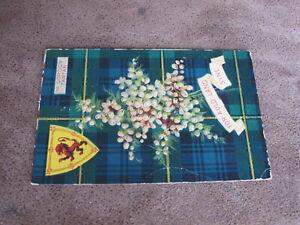 Scottish-postcard-Clan-Gordon-Tartan-For-Auld-Lang-Syne-Lion