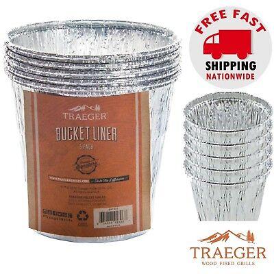 5 Pack Traeger Bucket Liner Wood Fired Grilling Aluminum Utensil Disposable