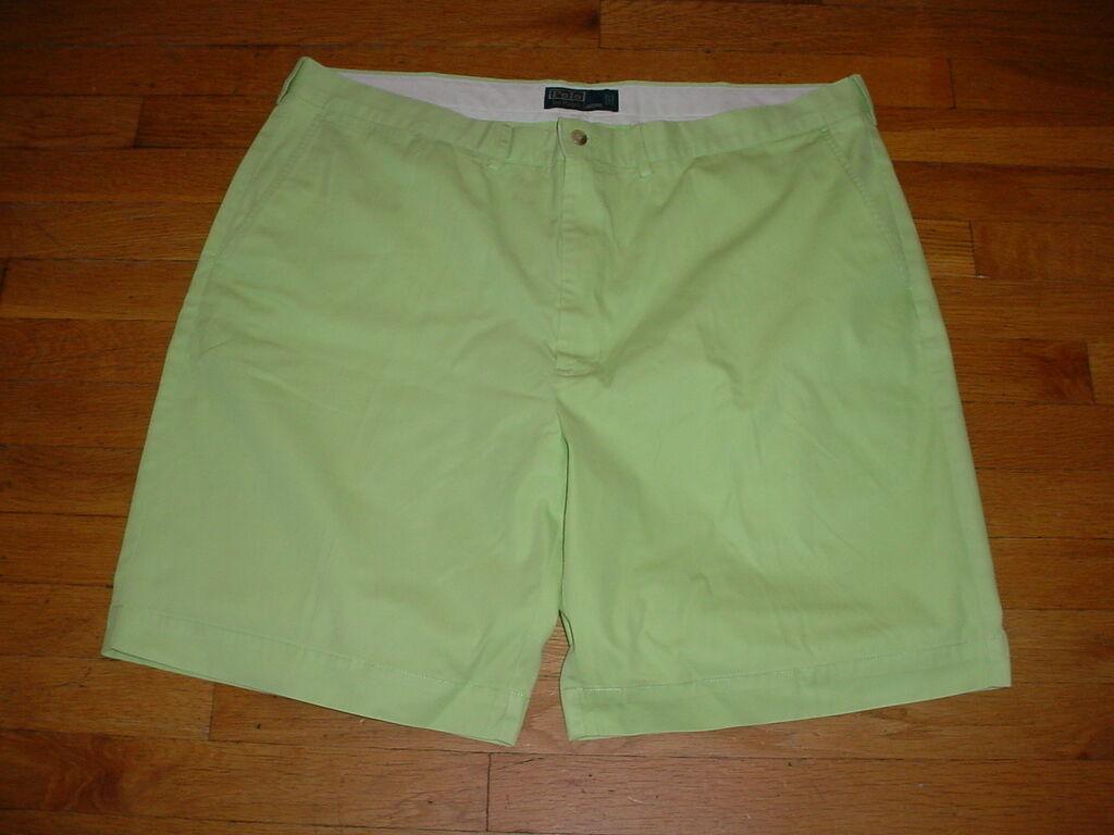 Vtg Polo Ralph Lauren Mens Shorts Cotton Lime-Neon-Green Size 42 Sharp