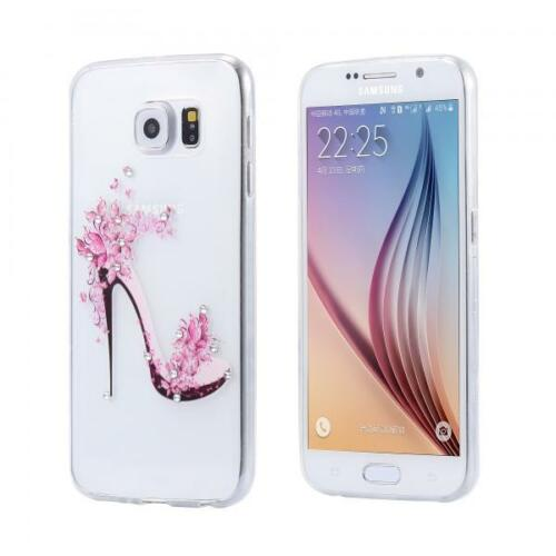 Slim Tpu Funda Strass Brillo Cover Gel Skin Transparente Transparente Samsung