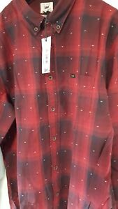 mens lee dark red shirt new in bag size s regular fit - Barry, United Kingdom - mens lee dark red shirt new in bag size s regular fit - Barry, United Kingdom