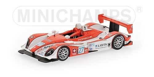 PORSCHE RS SPYDER Lienhard Theys 12h Sebring 2008 1 43 MODEL MINICHAMPS