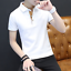 Cotton-Men-039-s-Fashion-Slim-Short-Sleeve-Shirts-T-shirt-Casual-Tops-Blouse-Top thumbnail 2