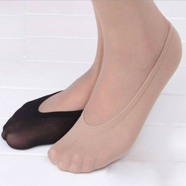 Ladies Womans Girls Cotton Lace Socks Invisible Liners Ballerina Footsies