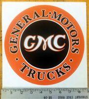 Vintage Gmc Trucks Sticker Decal 8.75 Diameter