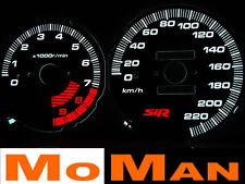 92-95 Honda Civic SIR plasma tacho glow gauge shift plasma dials EG EH EJ1 EJ2