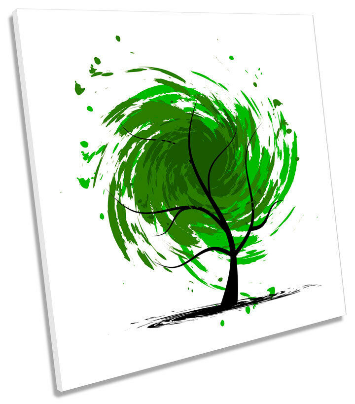 Abstract Tree Design SQUARE BOX FRAMED CANVAS ART Print