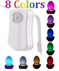 Lamps, Lighting & Ceiling Fans Competent 2 Motion Activated Toilet Bowl Night Light Led Seat Sensor Lamp 8-color Changing