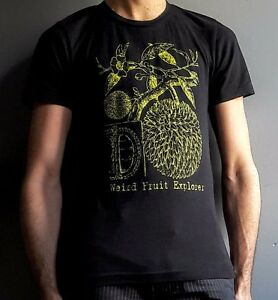 36af98485c300 Details about NEW Durian Anatomy T-Shirt - Black and Green - weird fruit  explorer