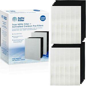 Fette Filtre - 2 high-efficiency particules HEPA Filtres + 8 Carbone Activé Filtres pour Fellowes aeram...