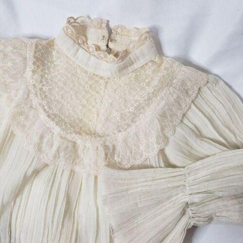 RAG O MUFFINS Vintage 70's Prairie blouse