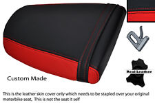 RED & BLACK CUSTOM FITS TRIUMPH SPEED TRIPLE 955 i 01-05 REAR SEAT COVER