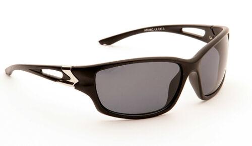 Mens Classic Retro Wrap Around Black Sports Dark Leisure Biker Shades Sunglasses