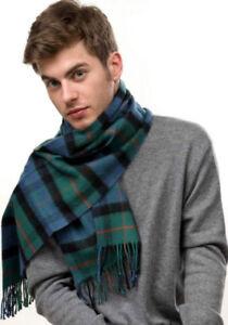 Scottish Pure Wool Tartan Clan Scarf Gunn Ancient NEW