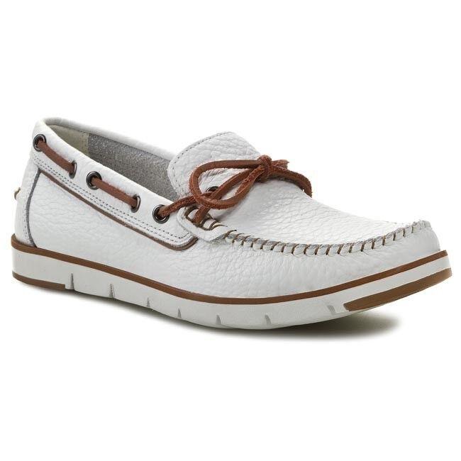 New no no no box Moccasins Boat shoes GEOX - U Rylan D U42X4D Optic White size 10 M f45346