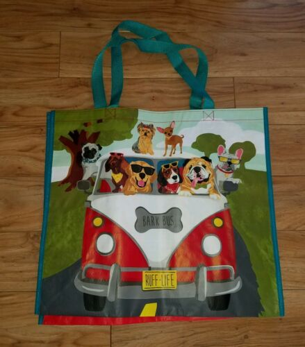VW Van Bark Bus Volkswagen Dog Handled Shopping Shoulder Bag Rip-Stop