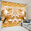 3D Lotus leaf 4 Blockout Photo Curtain Printing Curtains Drapes Fabric Window AU
