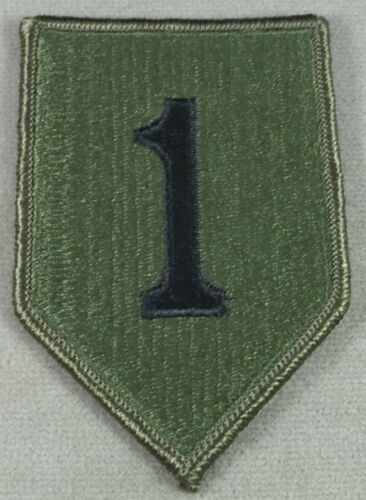 US Army 1st Infantry Division Subdued Merrowed Edge Patch USGI NOS 1996