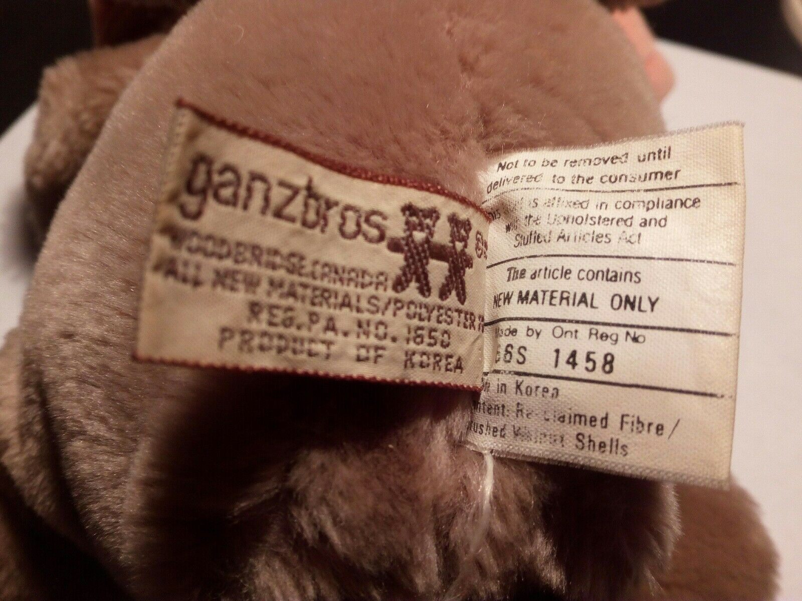 VINTAGE BULLWINKLE SOFT TOY 1970s 1970s TOY GANZBROS, HERITAGE COLLECTION 40c15d