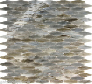 Image Is Loading Sample Gray Hexagon Stained Gl Mosaic Tile Kitchen