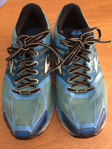 Blue Scarpe ~ Donna Train Taglia 9 Metallic Bright Brooks Running Walk Glycerin 11 hdstCQr