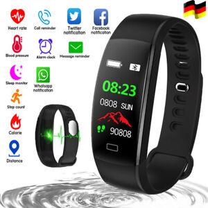 Fitness Armband mit Pulsuhr Smartwatch Fitnesstracker Sport Uhr Wasserdicht IP68