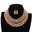 Women-Bohemian-Choker-Chunk-Crystal-Statement-Necklace-Wedding-Jewelry-Set thumbnail 59