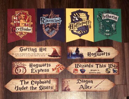 Laminé * Harry Potter Flèches /& Bannière Fête Décoration Set*6 flèches 4 Bannières