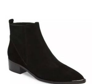 Marc Fisher Yommi Black Suede Bootie