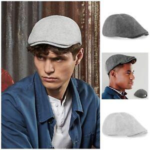 03e6f68501 Details about Ivy Flat Cap Tweed Herringbone Hat Gatsby Newsboy Baker Boy  Cabbie Mens Womens