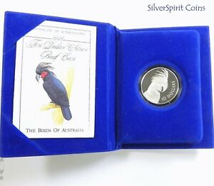 1993-BIRDS-OF-AUSTRALIA-PALM-COCKATOO-Silver-Proof-Coin