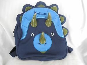 f8294068fc Image is loading Pottery-Barn-Kids-Classic-Critter-Dinosaur-Backpacks -Preschool-