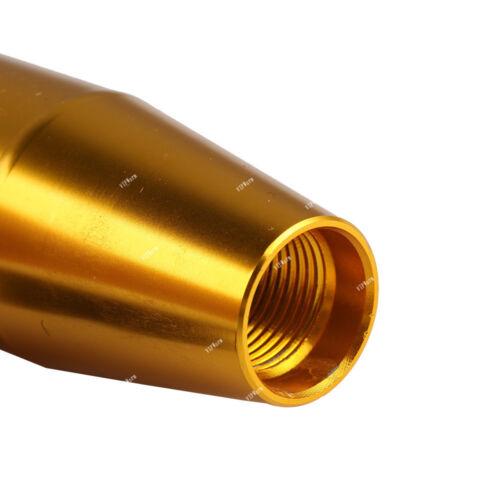 13cm Yellow Universal Metal Manual Car Gear Stick Shift Knob Shifter Lever