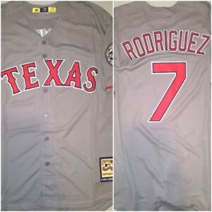 lowest price a4950 e6c8b Details about Retro Ivan 'Pudge' Rodriguez Texas Rangers Grey #7 Replica XL  Baseball Jersey