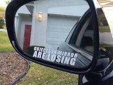 Objects in Mirror are losing sticker funny race WRX JDM hooligan Drift 4X4 decal