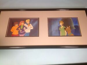 Scooby Doo Double 2 Rare Animation Cel Setups Hanna Barbera 1970's Framed