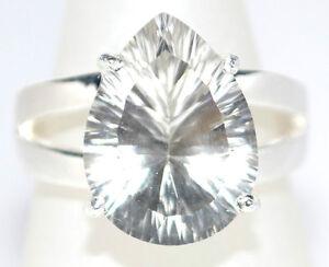 Anillo-Plata-de-Ley-Solitario-Cristal-Cuarzo-Gema-925-Tamano-5-L-a-10-U