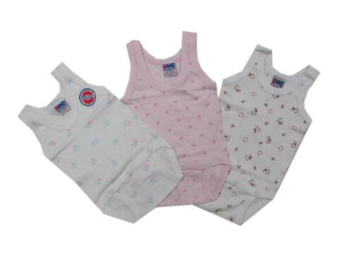 Kanz Unterwäsche Body Trägerbody 3er-Pack Mädchen Baby Overall Gr.62 68