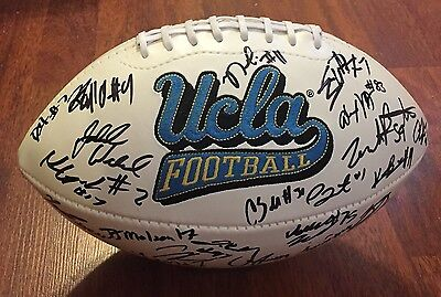 2016 Ucla Bruins Team Signed Logo Football W/coa Josh Rosen Football Soso Jamabo Suitable For Men And Women Of All Ages In All Seasons Autographs-original